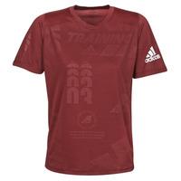 Υφασμάτινα Άνδρας T-shirt με κοντά μανίκια adidas Performance DAILY PRESS TEE Red