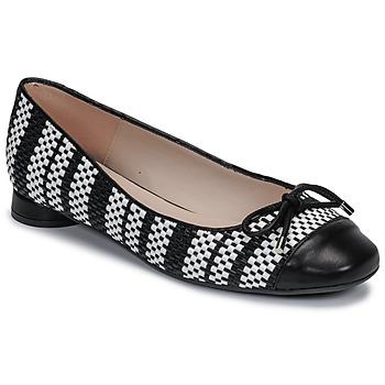 Παπούτσια Γυναίκα Μπαλαρίνες Fericelli MARYA Black / Και / Άσπρο