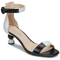 Παπούτσια Γυναίκα Σανδάλια / Πέδιλα Fericelli MARC Black / Και / Άσπρο
