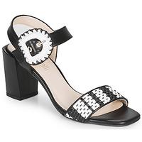Παπούτσια Γυναίκα Σανδάλια / Πέδιλα Fericelli MAIRA Black / Και / Άσπρο