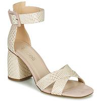 Παπούτσια Γυναίκα Σανδάλια / Πέδιλα Fericelli JEZI Άσπρο / Ροζ