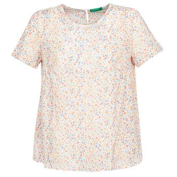 Υφασμάτινα Γυναίκα Μπλούζες Benetton DANIEL Άσπρο / Multicolour