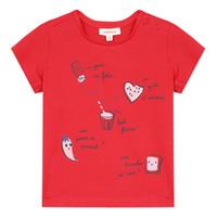 Υφασμάτινα Κορίτσι T-shirt με κοντά μανίκια Catimini MUSIKOU Red
