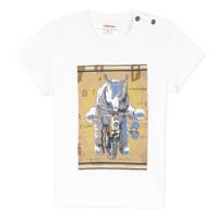 Υφασμάτινα Αγόρι T-shirt με κοντά μανίκια Catimini LARIBI Άσπρο