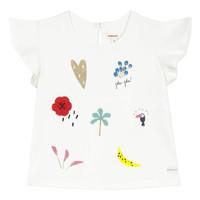 Υφασμάτινα Κορίτσι T-shirt με κοντά μανίκια Catimini NADEGE Άσπρο