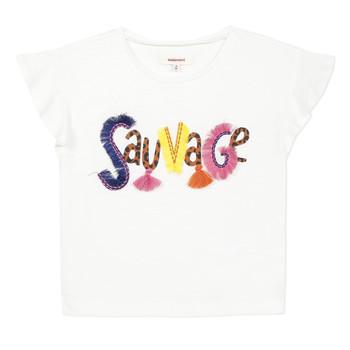 Υφασμάτινα Κορίτσι T-shirt με κοντά μανίκια Catimini ENZO Άσπρο