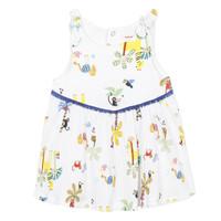 Υφασμάτινα Κορίτσι Κοντά Φορέματα Catimini BIXENTE Άσπρο