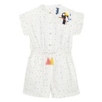 Υφασμάτινα Κορίτσι Ολόσωμες φόρμες / σαλοπέτες Catimini LUCIUS Άσπρο