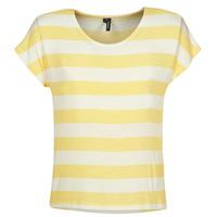 Υφασμάτινα Γυναίκα T-shirt με κοντά μανίκια Vero Moda  Yellow / Άσπρο