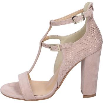 Παπούτσια Γυναίκα Σανδάλια / Πέδιλα Olga Rubini sandali camoscio sintetico borchie rosa