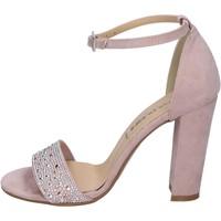 Παπούτσια Γυναίκα Σανδάλια / Πέδιλα Olga Rubini sandali camoscio sintetico strass rosa