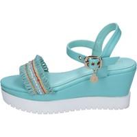 Παπούτσια Γυναίκα Σανδάλια / Πέδιλα Enrico Coveri sandali pelle sintetica tessuto Blu