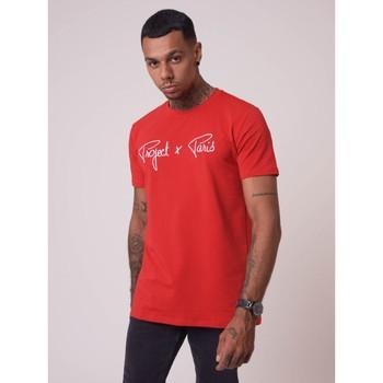 Υφασμάτινα Άνδρας T-shirt με κοντά μανίκια Project X Paris  Red