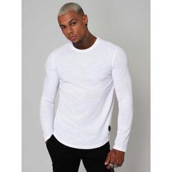 Υφασμάτινα Άνδρας Μπλουζάκια με μακριά μανίκια Project X Paris  Άσπρο
