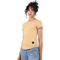 Υφασμάτινα Γυναίκα T-shirt με κοντά μανίκια Project X Paris  Beige