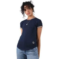 Υφασμάτινα Γυναίκα T-shirt με κοντά μανίκια Project X Paris  Μπλέ