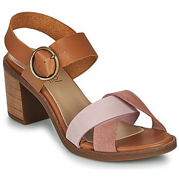 Παπούτσια Γυναίκα Σανδάλια / Πέδιλα Casual Attitude MEL Camel / Ροζ