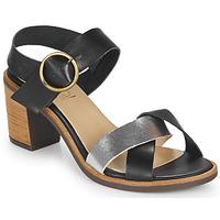 Παπούτσια Γυναίκα Σανδάλια / Πέδιλα Casual Attitude MILLA Black / Argenté