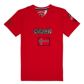 Υφασμάτινα Αγόρι T-shirt με κοντά μανίκια Geographical Norway JIRI Red