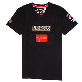 Υφασμάτινα Αγόρι T-shirt με κοντά μανίκια Geographical Norway JIRI Black