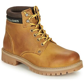 Παπούτσια Αγόρι Μπότες Jack & Jones JR STATTON LEATHER Miel