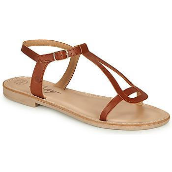 Παπούτσια Γυναίκα Σανδάλια / Πέδιλα Betty London MISSINE Cognac