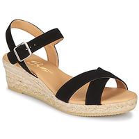 Παπούτσια Γυναίκα Σανδάλια / Πέδιλα Betty London GIORGIA Black / Croute