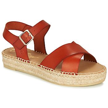 Παπούτσια Γυναίκα Σανδάλια / Πέδιλα Betty London MIZOU Brown