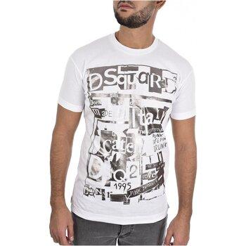 Υφασμάτινα Άνδρας T-shirt με κοντά μανίκια Dsquared S74GD0531 Άσπρο
