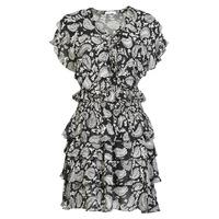 Υφασμάτινα Γυναίκα Κοντά Φορέματα Replay  Black / Άσπρο