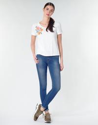 Υφασμάτινα Γυναίκα Skinny jeans Replay LUZ Μπλέ / Fonce