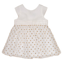Υφασμάτινα Κορίτσι Κοντά Φορέματα Petit Bateau FAVORITE Άσπρο / Dore