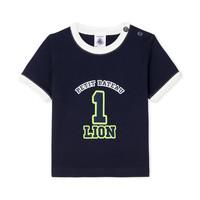 Υφασμάτινα Αγόρι T-shirt με κοντά μανίκια Petit Bateau FUDGE Μπλέ