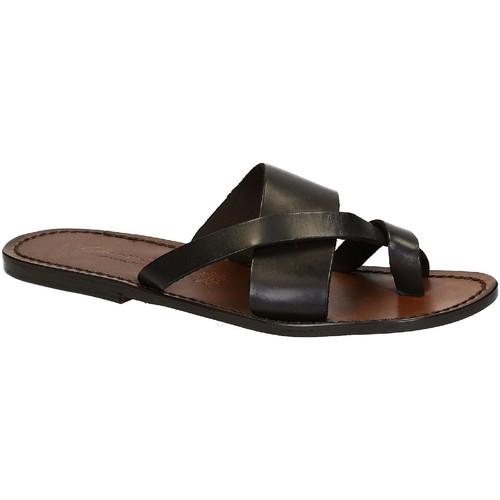 Παπούτσια Άνδρας Σανδάλια / Πέδιλα Gianluca - L'artigiano Del Cuoio 545 U MORO CUOIO Testa di Moro
