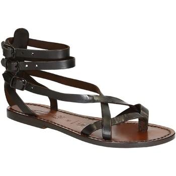 Παπούτσια Γυναίκα Σανδάλια / Πέδιλα Gianluca - L'artigiano Del Cuoio 564 D MORO CUOIO Testa di Moro