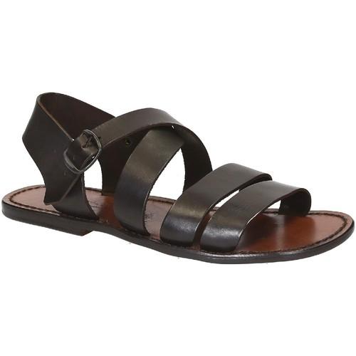 Παπούτσια Άνδρας Σανδάλια / Πέδιλα Gianluca - L'artigiano Del Cuoio 508 U MORO CUOIO Testa di Moro