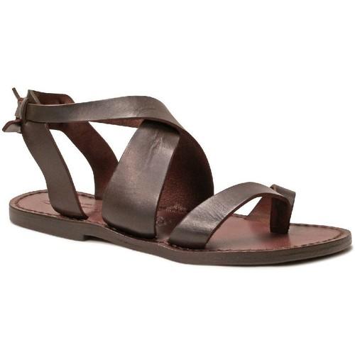 Παπούτσια Γυναίκα Σανδάλια / Πέδιλα Gianluca - L'artigiano Del Cuoio 571 D MORO CUOIO Testa di Moro