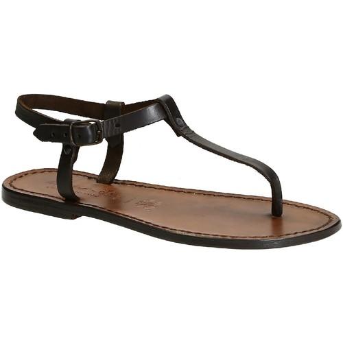 Παπούτσια Γυναίκα Σανδάλια / Πέδιλα Gianluca - L'artigiano Del Cuoio 532 D MORO CUOIO Testa di Moro