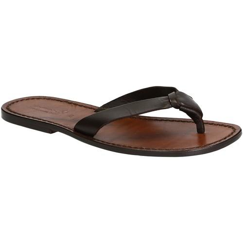 Παπούτσια Άνδρας Σαγιονάρες Gianluca - L'artigiano Del Cuoio 580 U MORO CUOIO Testa di Moro