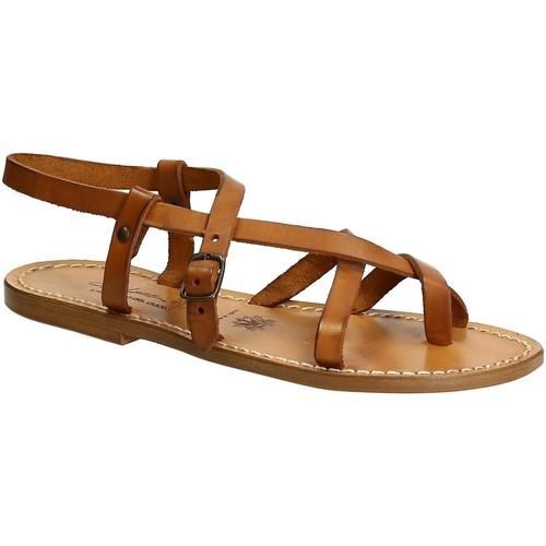 Παπούτσια Γυναίκα Σανδάλια / Πέδιλα Gianluca - L'artigiano Del Cuoio 530 D CUOIO CUOIO Cuoio