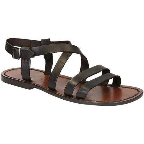 Παπούτσια Άνδρας Σανδάλια / Πέδιλα Gianluca - L'artigiano Del Cuoio 531 U MORO CUOIO Testa di Moro