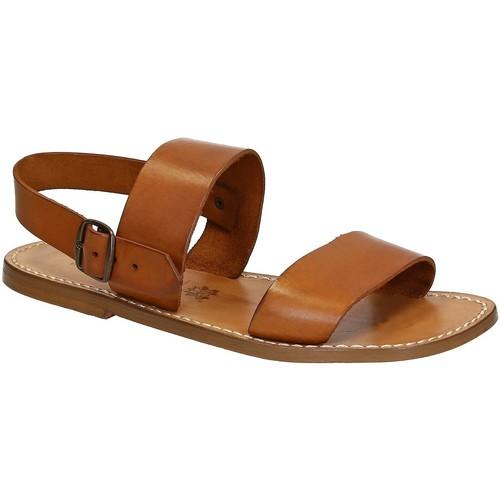 Παπούτσια Άνδρας Σανδάλια / Πέδιλα Gianluca - L'artigiano Del Cuoio 500 U CUOIO CUOIO Cuoio