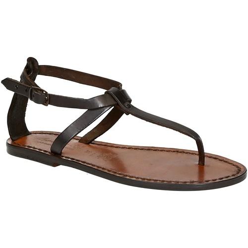 Παπούτσια Γυναίκα Σανδάλια / Πέδιλα Gianluca - L'artigiano Del Cuoio 582 D MORO CUOIO Testa di Moro