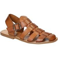 Παπούτσια Άνδρας Σανδάλια / Πέδιλα Gianluca - L'artigiano Del Cuoio 502 U CUOIO CUOIO Cuoio