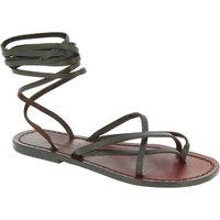 Παπούτσια Γυναίκα Σανδάλια / Πέδιλα Gianluca - L'artigiano Del Cuoio 514 D MORO CUOIO Testa di Moro