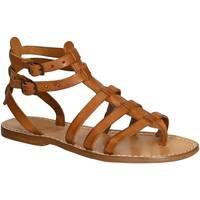 Παπούτσια Γυναίκα Σανδάλια / Πέδιλα Gianluca - L'artigiano Del Cuoio 506 D CUOIO CUOIO Cuoio