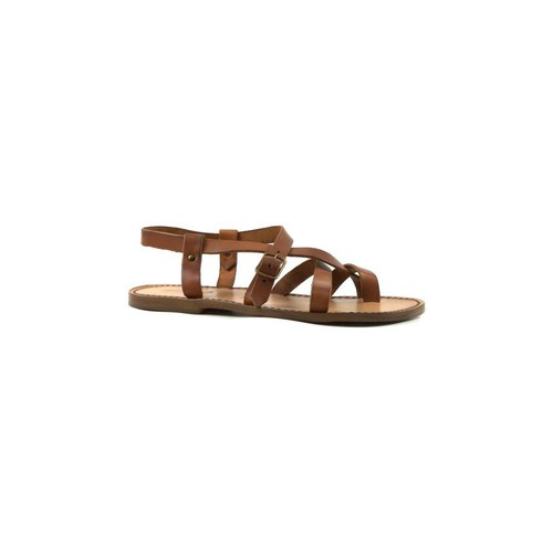 Παπούτσια Άνδρας Σανδάλια / Πέδιλα Gianluca - L'artigiano Del Cuoio 530 U CUOIO CUOIO Cuoio