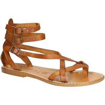Παπούτσια Γυναίκα Σανδάλια / Πέδιλα Gianluca - L'artigiano Del Cuoio 564 D CUOIO CUOIO Cuoio
