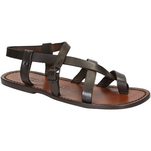 Παπούτσια Άνδρας Σανδάλια / Πέδιλα Gianluca - L'artigiano Del Cuoio 530 U MORO CUOIO Testa di Moro