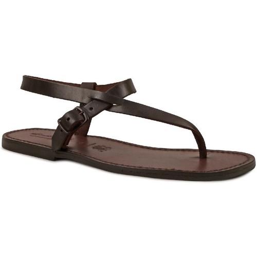 Παπούτσια Άνδρας Σανδάλια / Πέδιλα Gianluca - L'artigiano Del Cuoio 592 U MORO CUOIO Testa di Moro